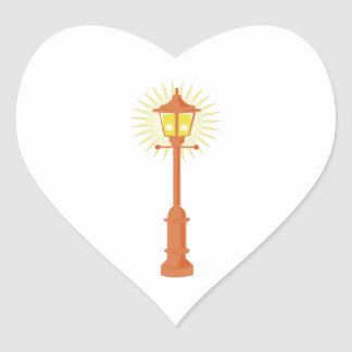 Street Lamp Heart Sticker