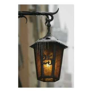Street lamp in winter. poster
