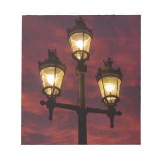 Street lamp lantern beautiful colorful sky notepad