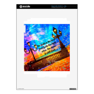 Street lamps at dawn iPad 2 skin
