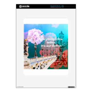 Street lamps flowers and message skin for iPad