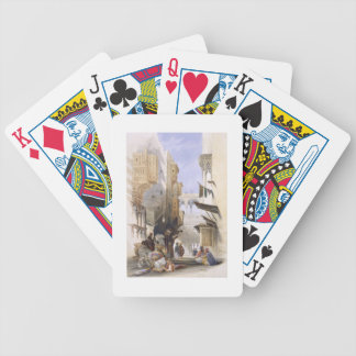 Street Leading to El Azhar, Grand Cairo, pub. 1846 Bicycle Playing Cards