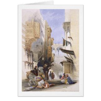 Street Leading to El Azhar, Grand Cairo, pub. 1846 Card