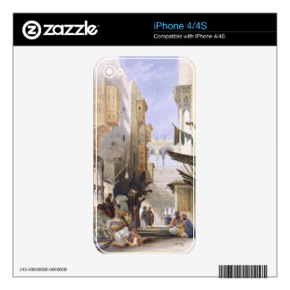 Street Leading to El Azhar, Grand Cairo, pub. 1846 Decal For iPhone 4