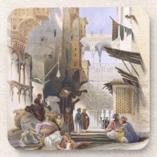 Street Leading to El Azhar, Grand Cairo, pub. 1846 Drink Coaster