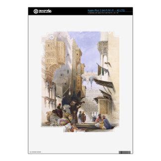 Street Leading to El Azhar, Grand Cairo, pub. 1846 iPad 3 Decals