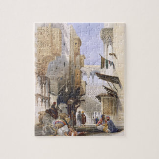 Street Leading to El Azhar, Grand Cairo, pub. 1846 Jigsaw Puzzle