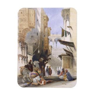 Street Leading to El Azhar, Grand Cairo, pub. 1846 Magnet