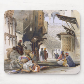 Street Leading to El Azhar, Grand Cairo, pub. 1846 Mouse Pad