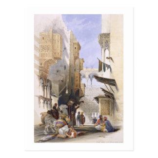 Street Leading to El Azhar, Grand Cairo, pub. 1846 Postcard