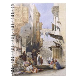 Street Leading to El Azhar, Grand Cairo, pub. 1846 Spiral Notebook