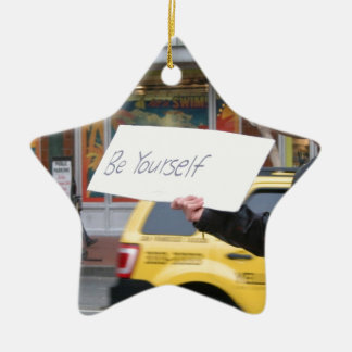 Street Life Double-Sided Star Ceramic Christmas Ornament