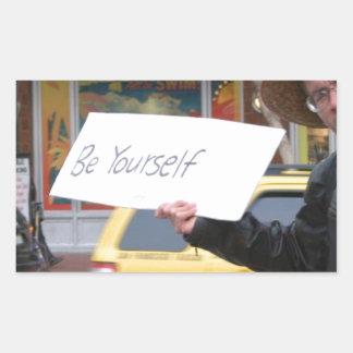 Street Life Rectangular Sticker