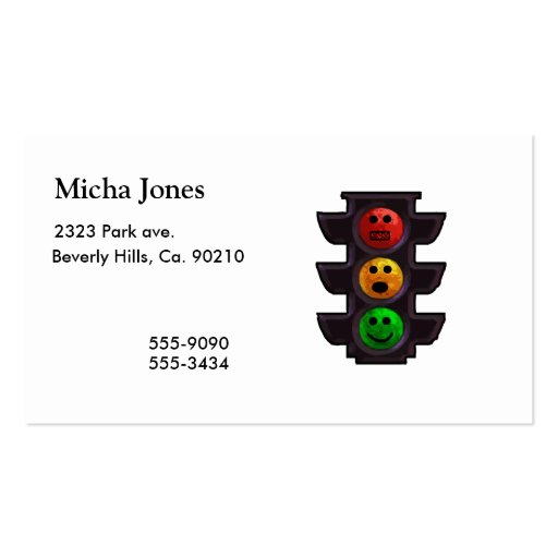 Street Light Moods Business Card Templates