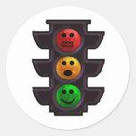 Street Light Moods Round Stickers