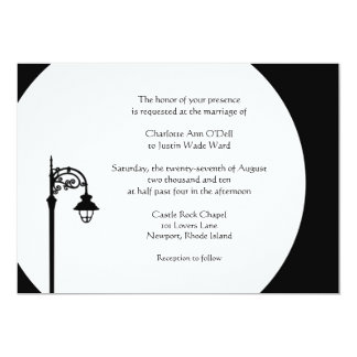 street light; wedding card