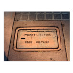 Street Lighting Sign Postcard