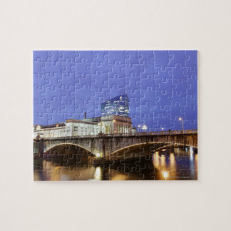Street lights at night Philadelphia railroad Jigsaw Puzzle