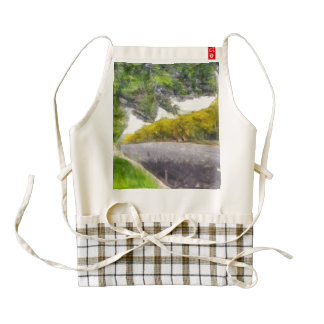 Street lined with trees zazzle HEART apron