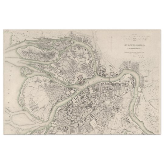 Street Map Decoupage Paper