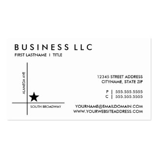 street map template business card