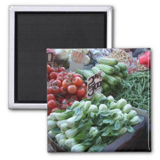 Street Market Fresh Vegetables CricketDiane Magnet