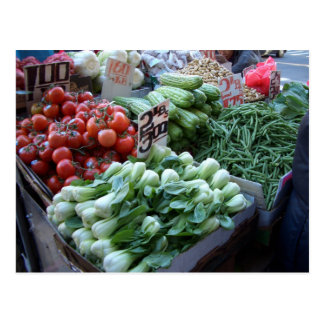 Street Market Fresh Vegetables CricketDiane Postcard