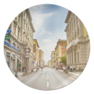 street melamine plate