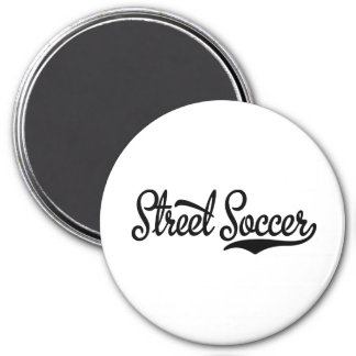 street more soccer 3 inch round magnet