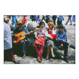 Street Muscian Poster
