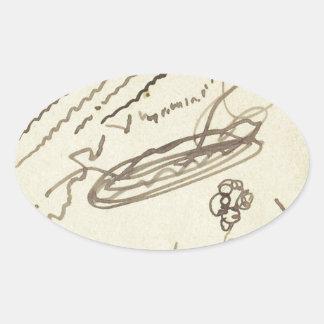 Street Music II by Theo van Doesburg Oval Sticker