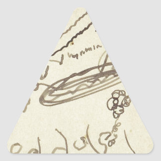 Street Music II by Theo van Doesburg Triangle Sticker