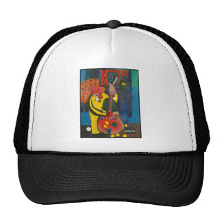 street musician trucker hat