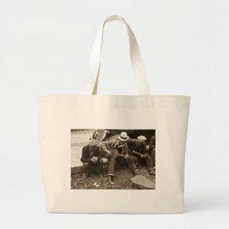 Street musicians, Maynardville, Tennessee, 1935 Large Tote Bag