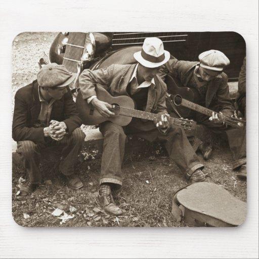 Street musicians, Maynardville, Tennessee, 1935 Mouse Pad