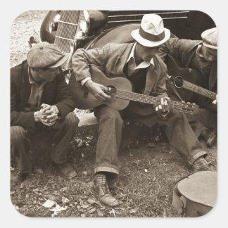 Street musicians, Maynardville, Tennessee, 1935 Square Sticker