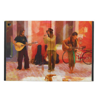 Street Musicians Playing Guitar Mandolin and Flute Powis iPad Air 2 Case