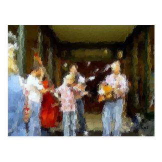 Street Musicians Postcard