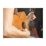 Street Musicians Stretched Canvas Print