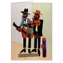 Street Musicians ~ Vintage American Art Card