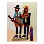 Street Musicians ~ Vintage American Art Postcard