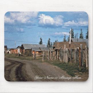 Street of Fort Yukon village Mouse Pad