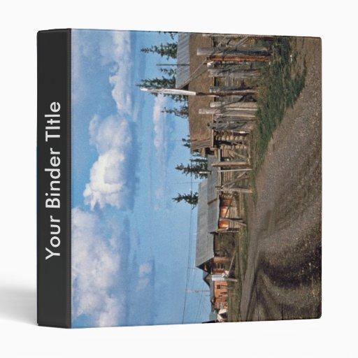 Street of Fort Yukon village Vinyl Binder