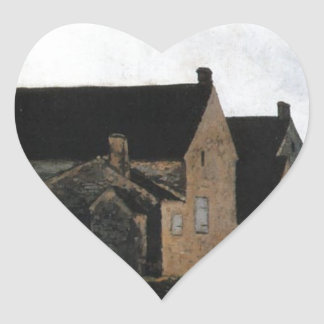 Street of Marlotte by Alfred Sisley Heart Sticker