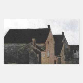Street of Marlotte by Alfred Sisley Rectangular Sticker