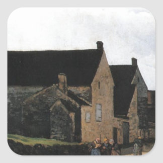 Street of Marlotte by Alfred Sisley Square Sticker
