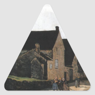 Street of Marlotte by Alfred Sisley Triangle Sticker