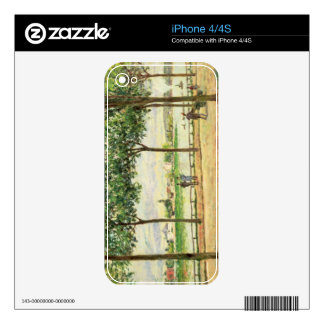 Street of Spanish Chestnut Trees by the River, 187 Decals For iPhone 4