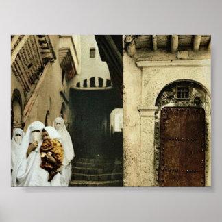 Street of the camels, Algiers, Algeria classic Pho Print