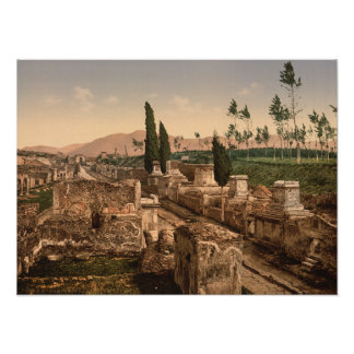 Street of the Tombs, Pompeii, Campania, Italy Poster